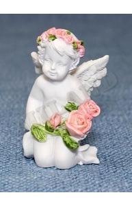 "Статуэтка ""Ангел с цветами"" (3,6 х 3,5 х 5,8) Т-3825"