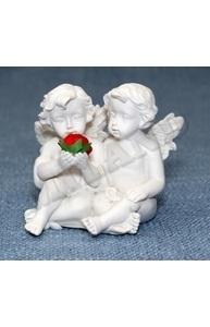 """Статуэтка """"Ангелочки с цветком"""" (7,5 х 6,5 х 7) Т-3800"""