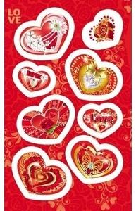 Наклейка Валентинка Красивые сердечки 4-10-0074
