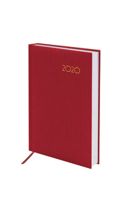 """Ежедневник 2020 А5 168л """"Select. Красный"""" кожа классик"""