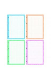 Сменный блок д/тетрадей на кольцах А5 200л 4 цвета, дизайнерский блок, пленка т/у