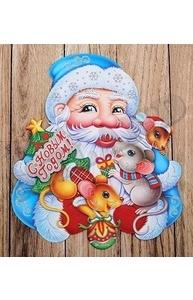Плакат оформительский НГ. Дедушка Мороз с мышками, на скотче НУ-0813