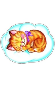 Плакат фигурный-мини Котенок спит на облаке ФМ-9537