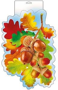 """Плакат фигурный А4 Осень.""""Дубовые листья, жёлуди""""  071.062"""