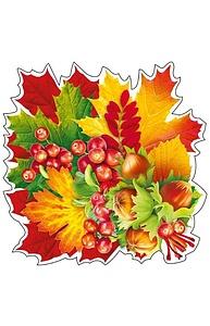 """Плакат фигурный Мини Осень.""""Букет из орехов и ягод"""" на скотче  080.969"""