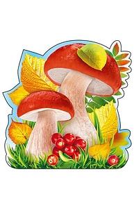 """Плакат фигурный Мини Осень.""""Грибы и листья"""" на скотче 080.972"""