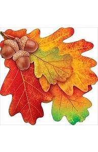 """Плакат фигурный Мини Осень.""""Дубовые листья"""" на скотче  88.387"""