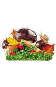 Плакат фигурный Мини Осень.Улитка на грибе      10-10.02-0024