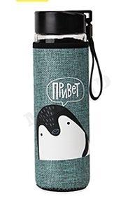 Бутылка для воды, в чехле Пингвинёнок, 500 мл УД-6396