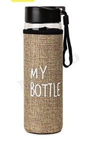 Бутылка для воды, в чехле My bottle, 500 мл, бежевый УД-6400