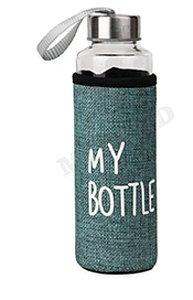 Бутылка для воды, в чехле My bottle, 400 мл, бирюзовый УД-6407