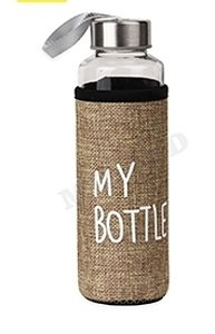 Бутылка для воды, в чехле My bottle, 400 мл, бежевый УД-6408