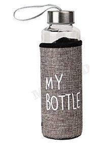 Бутылка для воды, в чехле My bottle, 400 мл, серый УД-6410