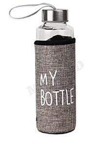 Бутылка для воды, в чехле My bottle, 300 мл, серый УД-6414