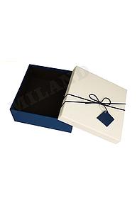 Коробка подарочная 205 x 205 x 80 Классический стиль/с бантиком и адресной карт.ПП-6