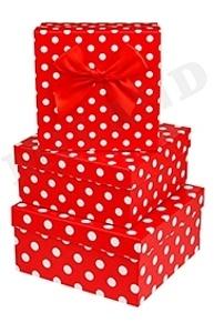 Коробка подарочная 150x 150 x 65 Чудесный горошек / с бантиком ПП-6731