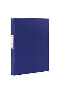 Папка картон/ПВХ на 2 кольца 35мм. до 180 листов (удвоенный срок службы) синяя