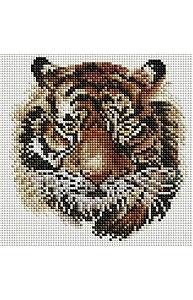 Алмазная мозаика 20х20см Тигр UС108