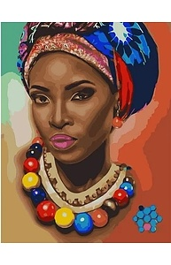 Холст с красками 40х50см Стиль Африки MCA890