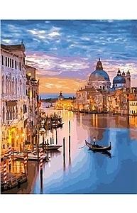 Холст с красками 40х50см Вечерние огни Венеции МСА628