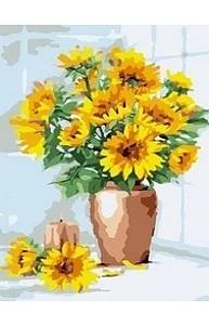Холст с красками 20х30см Солнце в вазе MCD131