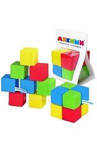 Кубики 8шт Мякиши Игрушка (Кубики 4 цвета) 103382