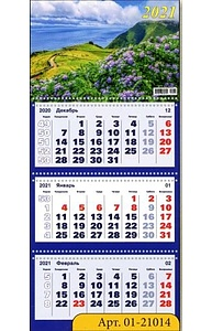Календарь 2021 квартальный (315*640) Лето  01-21014