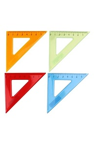 Треугольник 45°*7см. пластик, цветной, ассорти